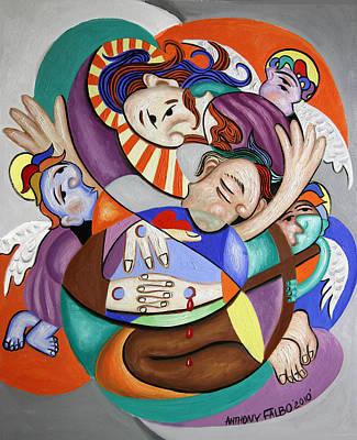 Jesus Art Painting - Here My Prayer by Anthony Falbo