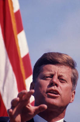 Kennedy Photograph - John F. Kennedy By Arthur Rickerby by Retro Images Archive