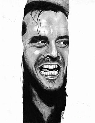 Jack Nicholson Drawing - Here's Johnny by Christian Conner