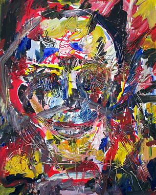 Human Head Painting - Heretic by Fabrizio Cassetta