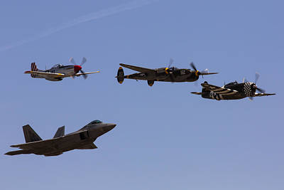 Lightning D Photograph - Heritage Flight Of Four by John Daly