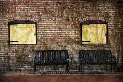 Window Bench Photograph - Heritage Square Phoenix Vintage Benches by Dave Dilli