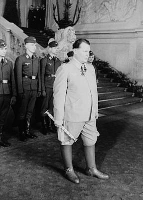 Nazi Party Photograph - Hermann Goering At Castle Belvedere by Everett