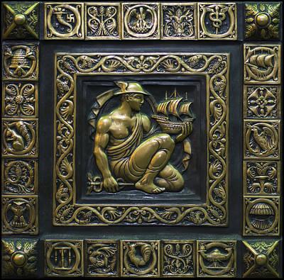 Hermes Bronze Plate Print by Chris Flees