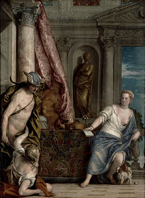 Hermes, Herse And Aglauros, C.1576-84 Print by Veronese