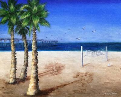Frier Painting - Hermosa Beach Pier by Jamie Frier