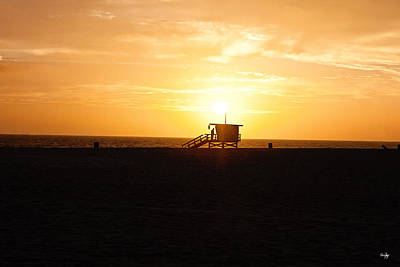 Hermosa Beach Sunset Print by Scott Pellegrin