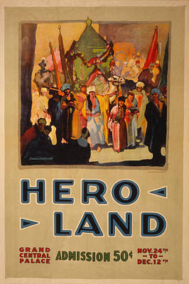Message Art Photograph - Hero Land Poster by Underwood Archives