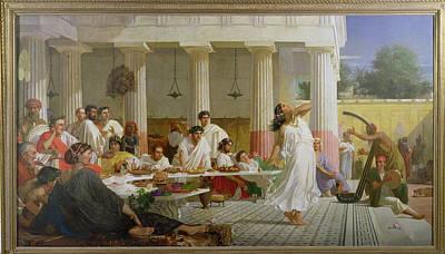 Herods Birthday Feast, 1868 Oil On Canvas Print by Edward Armitage