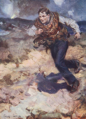 Heroic Middy Carrying Ammunition Print by Cyrus Cuneo