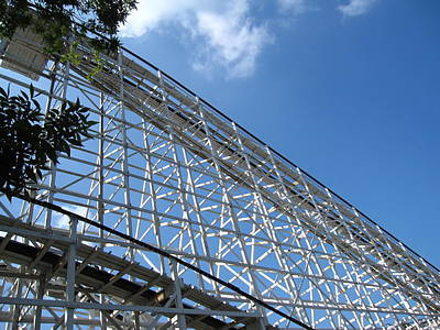 Comet Photograph - Hershey Park - Comet Roller Coaster - 12121 by DC Photographer