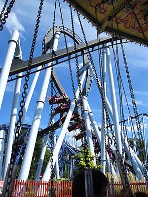 Bear Photograph - Hershey Park - Great Bear Roller Coaster - 121216 by DC Photographer