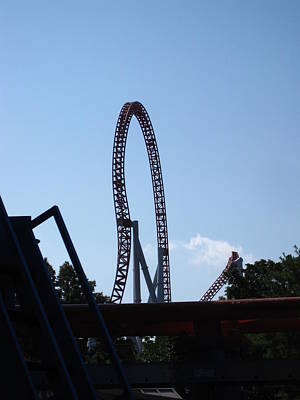 Hershey Park - Storm Runner Roller Coaster - 12124 Print by DC Photographer