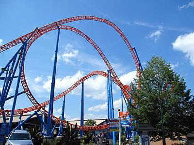 Hershey Park - Storm Runner Roller Coaster - 12125 Print by DC Photographer