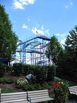 Hershey Park - Wild Mouse Roller Coaster - 12121 Print by DC Photographer