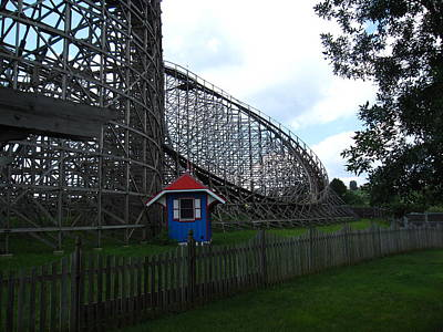 Hershey Park - Wildcat Roller Coaster - 12121 Print by DC Photographer