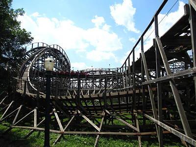 Wildcat Photograph - Hershey Park - Wildcat Roller Coaster - 12123 by DC Photographer
