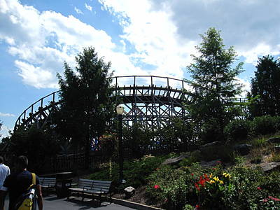 Hershey Park - Wildcat Roller Coaster - 12124 Print by DC Photographer