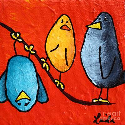 Limbbirds Painting - He's Yours by LimbBirds Whimsical Birds
