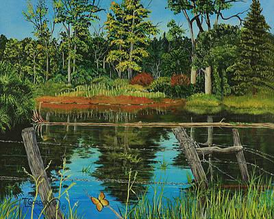 Tim Painting - Hesperus Pond by Timithy L Gordon