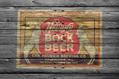 Heurich Bock Beer Print by Joe Hamilton