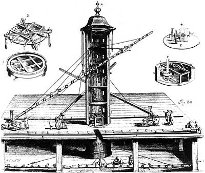 Danzig Photograph - Hevelius's Plan For A Tower Observatory by Universal History Archive/uig