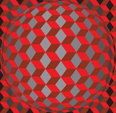Hexagonaa14 Print by Robert Van Es