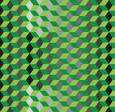 Hexagone14a Print by Robert Van Es