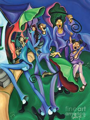 Mardi Gras Painting - Hey Na by Sharika  Mahdi