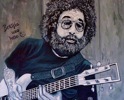 Grateful Dead Painting - Hey Now - Blue Jerry by Tom Roderick