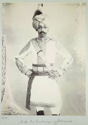 Colonial Man Photograph - Hh The Maharaja Of Jodhpore by British Library