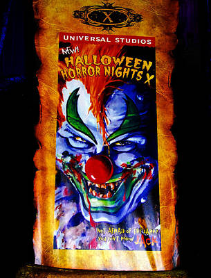 Haunted House Photograph - Hhn 10 Banner by David Lee Thompson