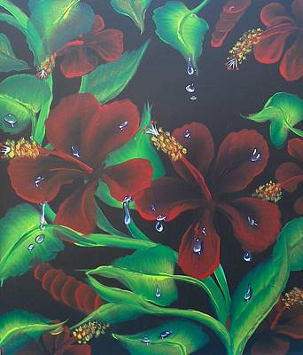 One Stroke Painting - Hibiscus by Christopher Soeters