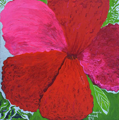 Hibiscus Explosion Original by Angela Annas
