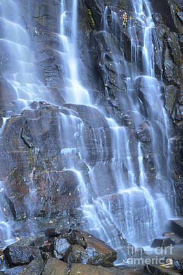 Hickory Nut Falls Chimney Rock State Park Nc Print by Dustin K Ryan