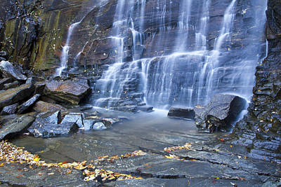 Hickory Nut Falls In Chimney Rock State Park Print by Pierre Leclerc Photography