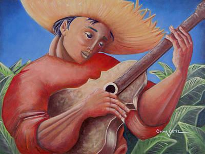 Flamboyan Tree Painting - Hidalgo Campesino by Oscar Ortiz