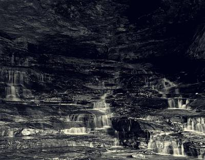 Carter Photograph - hidden cascade waterfalls Carter Caves by Chris Flees