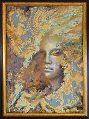 Quadri Painting - Hidden Face By Mihaela Ghit by Mihaela Ghit