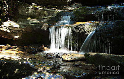 Stein Photograph - Hidden Falls - Hanging Rock State Park North Carolina by Nancy E Stein
