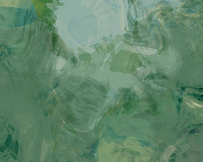 Green Abstract Print by Flo Karp