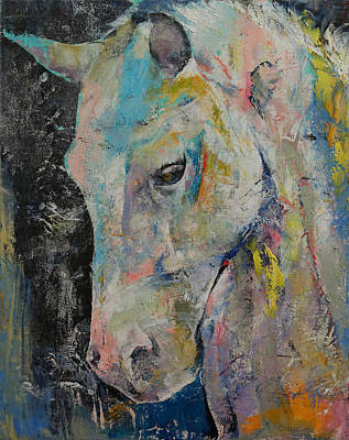 Hidden Heart Horse Print by Michael Creese