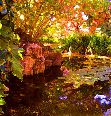 Lilies Painting - Hidden Pond by Amy Vangsgard