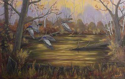 Hidden Pond Original by Rudolph Bajak