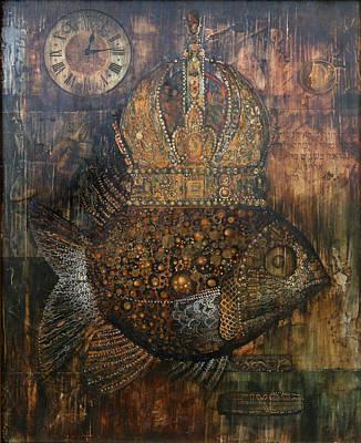 Egg Tempera Painting - Hidden Time by Dimitri Bashko