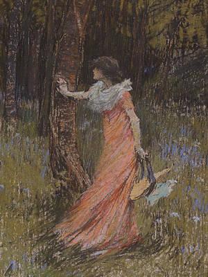 Adela Drawing - Hide And Seek by Elizabeth Adela Stanhope Forbes