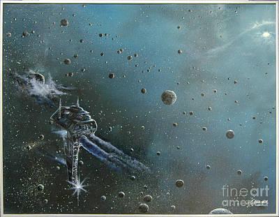 Cosmos Painting - Hiding In The Field by Murphy Elliott