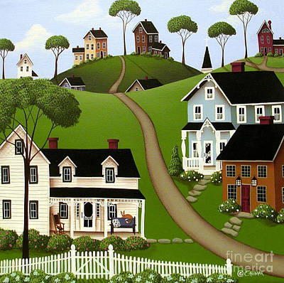 Folk Art Painting - Higginsville  by Catherine Holman