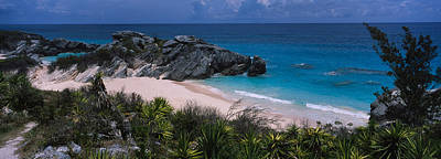 Bermuda Photograph - High Angle View Of A Beach, Bermuda by Panoramic Images