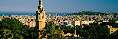 Rooftop Photograph - High Angle View Of A City, Barcelona by Panoramic Images